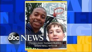 Isaiah Thomas Hoops With Kid Playing Alone