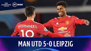Man Utd v Leipzig (5-0) | Champions League Highlights