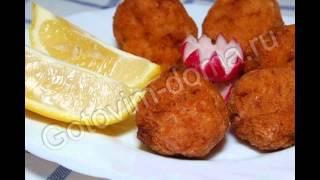 Горячие закуски мясные:Куриные крокеты