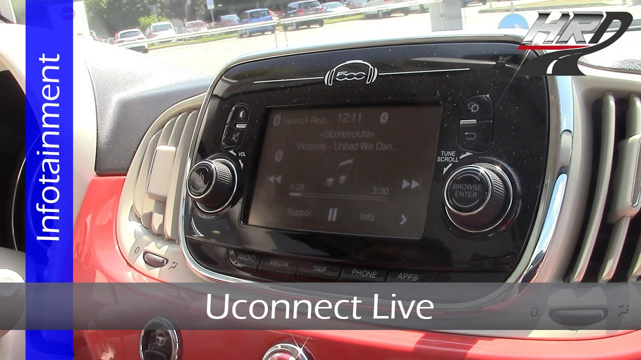 prova uconnect live infotainment system impianto multimediale fiat 500 restyling youtube. Black Bedroom Furniture Sets. Home Design Ideas