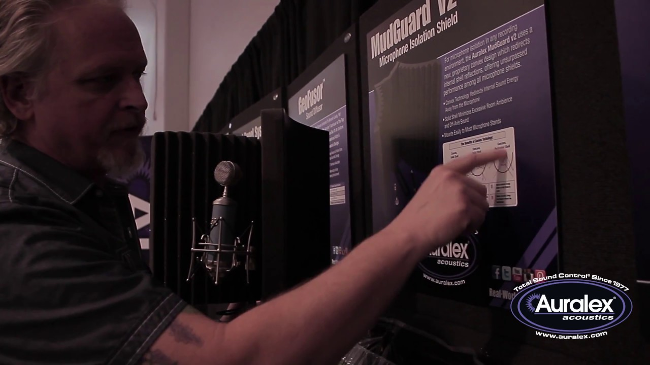 Auralex Presents the New, Redesigned MudGuard v2 Microphone Isolation Shield at NAMM 2016
