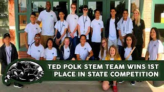 Ted Polk STEM Team Wins 1st Place in State Competition | CFBISD
