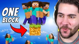 Can 100 Players Beat Minecraft Using 1 Block?!