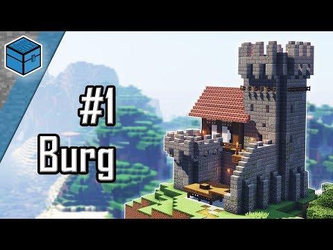 Minecraft Burg Bauen 🏰   Burg In Minecraft Bauen Deutsch   Teil 1/2