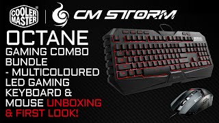 CM Storm Octane Keyboard & Mouse Gaming Gear Combo Bundle Unboxing & First Look!