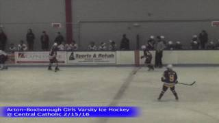 Acton Boxborough Girls Ice Hockey @ Central Catholic 2/15/16