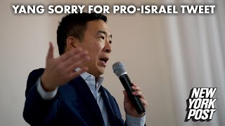 Andrew Yang apologizes for pro-Israel tweet after criticism from the left | New York Post