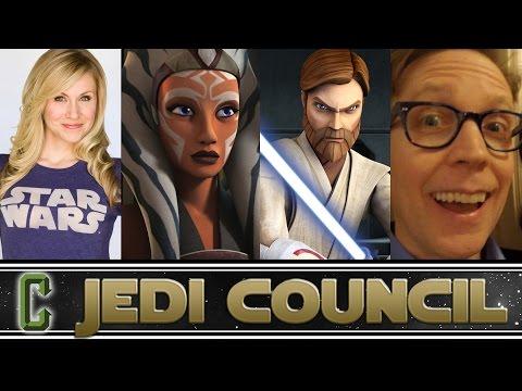 Collider Jedi Council  Guests Ashley EcksteinAhsoka Tano & JA TaylorObi Wan Kenobi