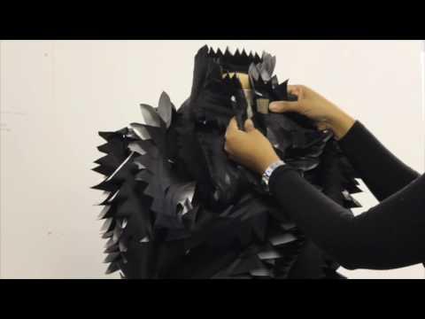 Dark Matter Dark Energy VR Experience Buzzing sculptural universe necklace