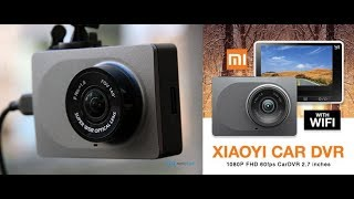 видео Видеорегистратор Xiaomi (Ксиаоми, Сяоми): YI 1080p Car WiFi DVR, MiJia Car Driving Recorder Camera, YI Smart Dash Camera SE Gray
