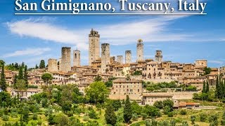 San gimignano, italy: towering hill townknown as the town of fine towers, gimignano is famous for its medieval architecture, unique in preservation o...