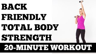 20-Minute Total Body Strength [Back Friendly] Workout