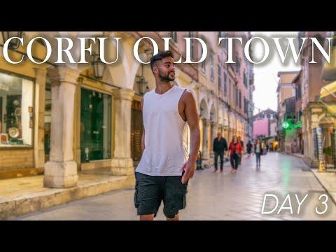Eating AUTHENTIC GREEK FOOD in CORFU TOWN | Bourdeto, Fish Bianco, Bourekakia | Corfu Travel Vlog