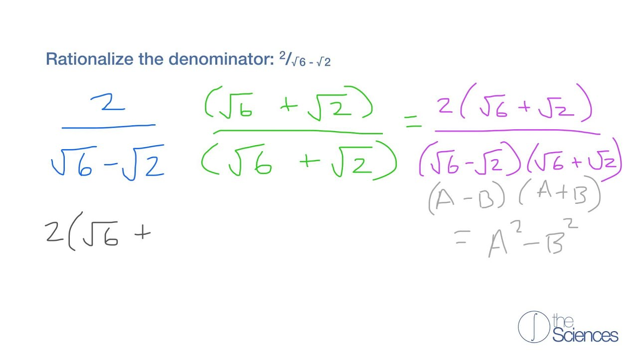 Rationalize Denominators Containing Two Terms 6