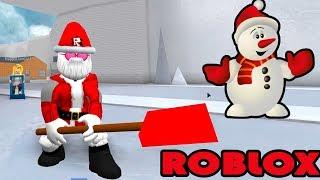 Roblox | Santas Go Cleaning Rubbish | Snow Shoveling Simulator | MinhMaMa
