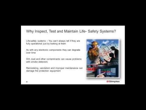 Simplex - Building Safety Webcast Series – Testing and Inspection of Fire Alarm Systems