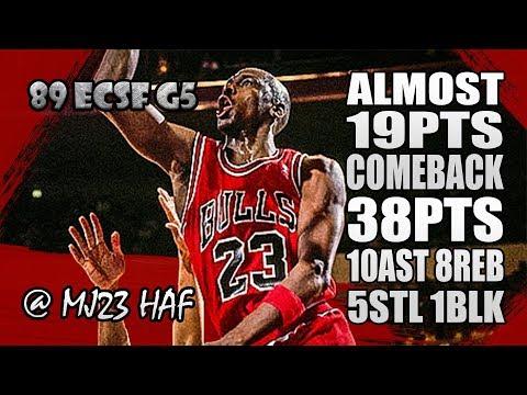 Michael Jordan Highlights 1989 ECSF Game 5 vs Knicks - 38pts,10ast, ALMOST 19pts COMEBACK!