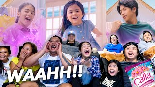REACTING To Our First TV COMMERCIAL With Fam!! (BTS) | Ranz and Niana