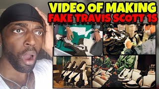 Video Proof Of Fake Jordan 1 Travis Scott Being Made (MUST WATCH)