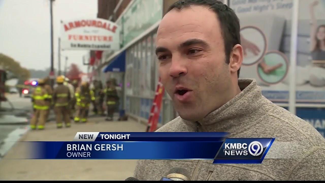 Firefighter Injured After Three Alarm Blaze At A KCK Furniture Store. KMBC  9 News Kansas City