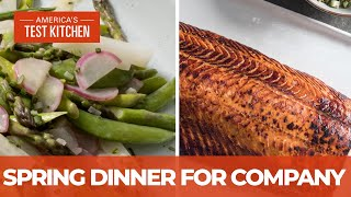 How to Make Impressive Roasted Whole Side of Salmon and Buttery Spring Vegetables