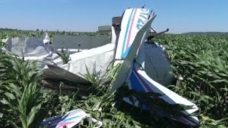 Pilot forced to jump from damaged plane