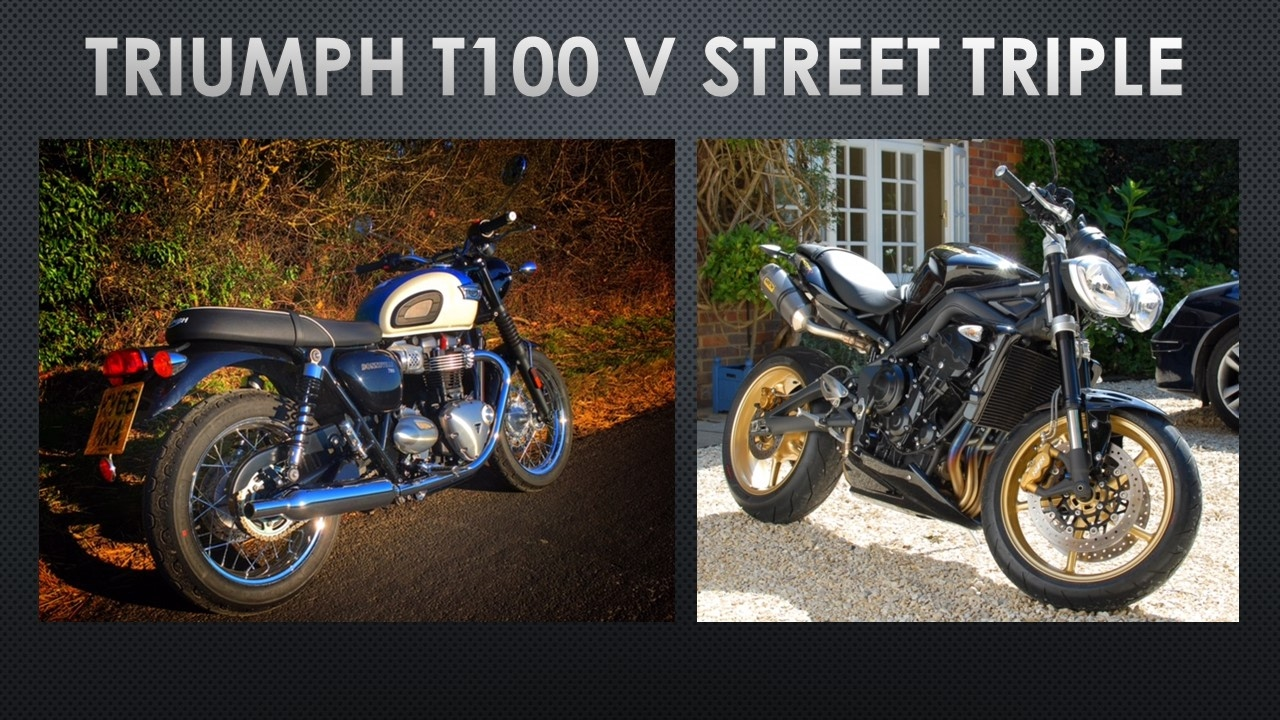 Whats Better Triumph Bonneville T100 Or Street Triple Youtube