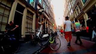 Bicycle tour of Amsterdam city center summer 2013 - GoPro Hero 3 black edition slow tv