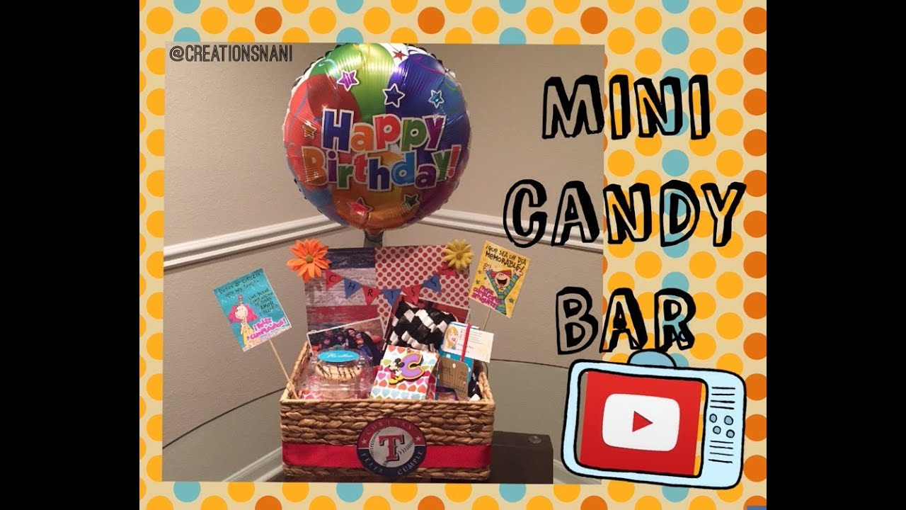 Como hacer un mini candy bar how to make a mini candy - Como hacer un candy bar ...