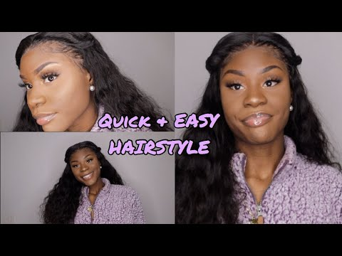 EASY & QUICK HAIRSTYLE ON WIG | ft. Tinashe hair (VLOGMAS DAY 4)