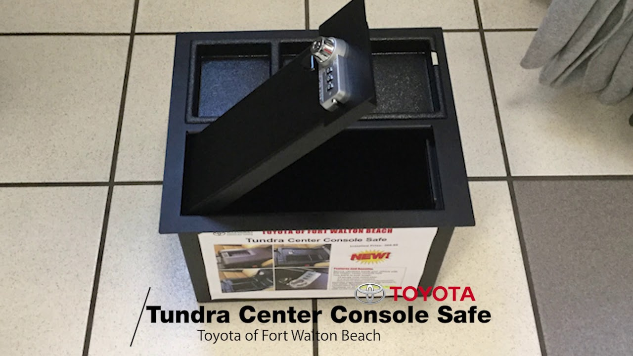 The All New Toyota Tundra Center Console Safe Toyota Of