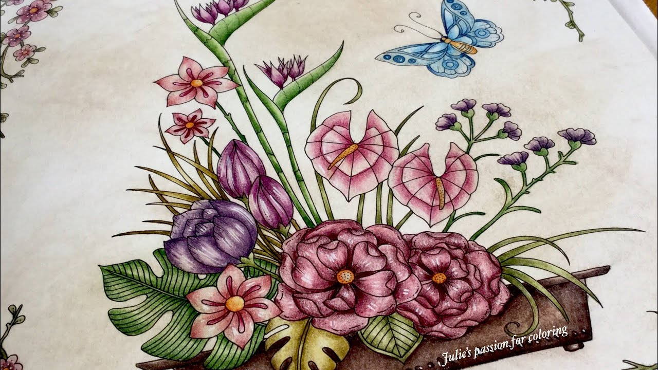 World Of Flowers By Johanna Basford Prismacolor Pencils