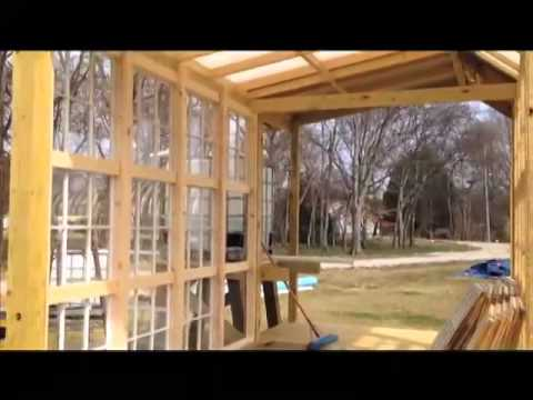 Building A Greenhouse Ep 8 Using Recycled Windows Step By Step