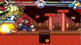 Super Mario & Neo Sonic vs Koopa Troopa & Giga Bowser MUGEN Battle!!!