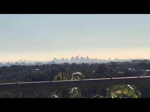 Sydney Skyline filmed from Yarrawarrah (Sutherland Shire) - July 2017