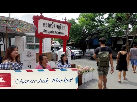 Tour Bangkok Weekend Market, The Sunday Market, JJ Market, and Chatuchak in 4K