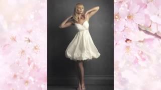 Милые короткие свадебные платья. Невесты в коротком свадебном платье.
