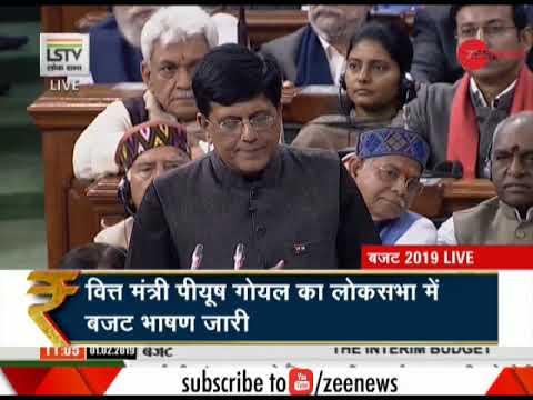 Budget 2019: Finance Minister Piyush Goyal begins speech