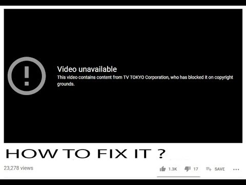 Video Blocked In Your Country (Quick Fix)