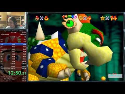 Super Mario 74 Extreme Edition 125 star speedrun in 2:21:10 (WR)