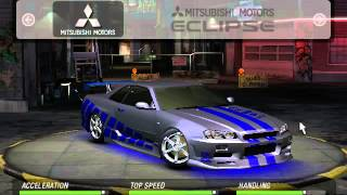 Need for Speed Underground 2 : Fast & Furious Cars