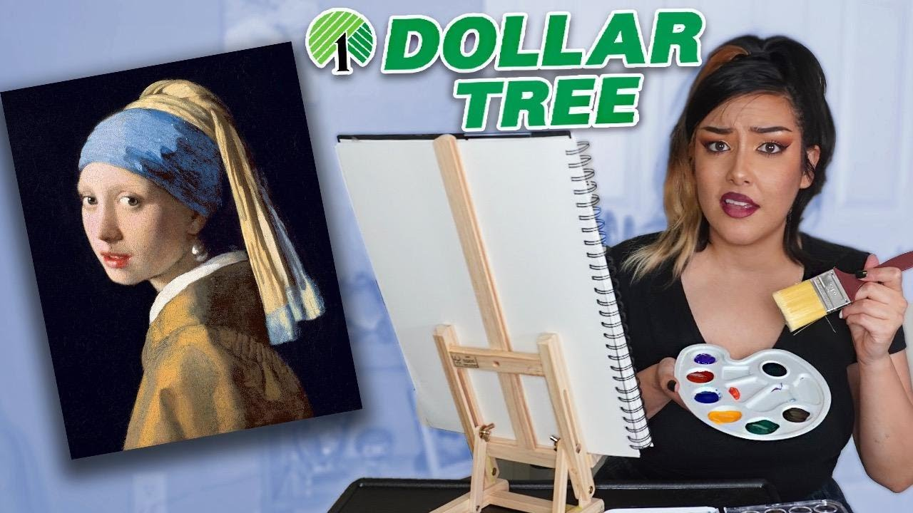I Painted A 17th Century Masterpiece With $1 Dollar Store Supplies..