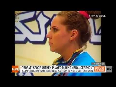Borat anthem plays at medal ceremony