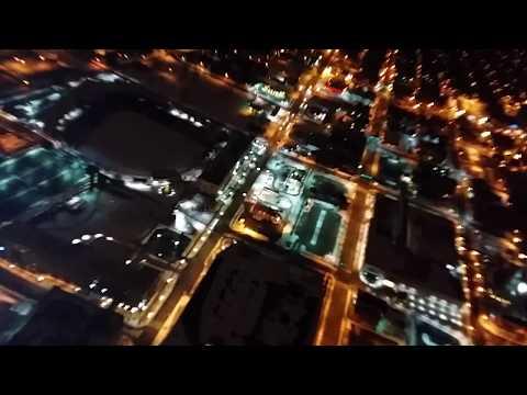 Downtown fort wayne indiana at night
