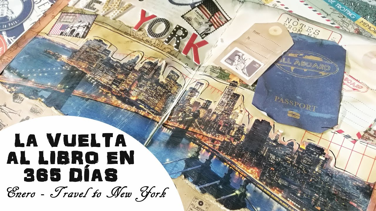 La vuelta al libro en 365 días: travel to New York - Enero || Craft & Roll