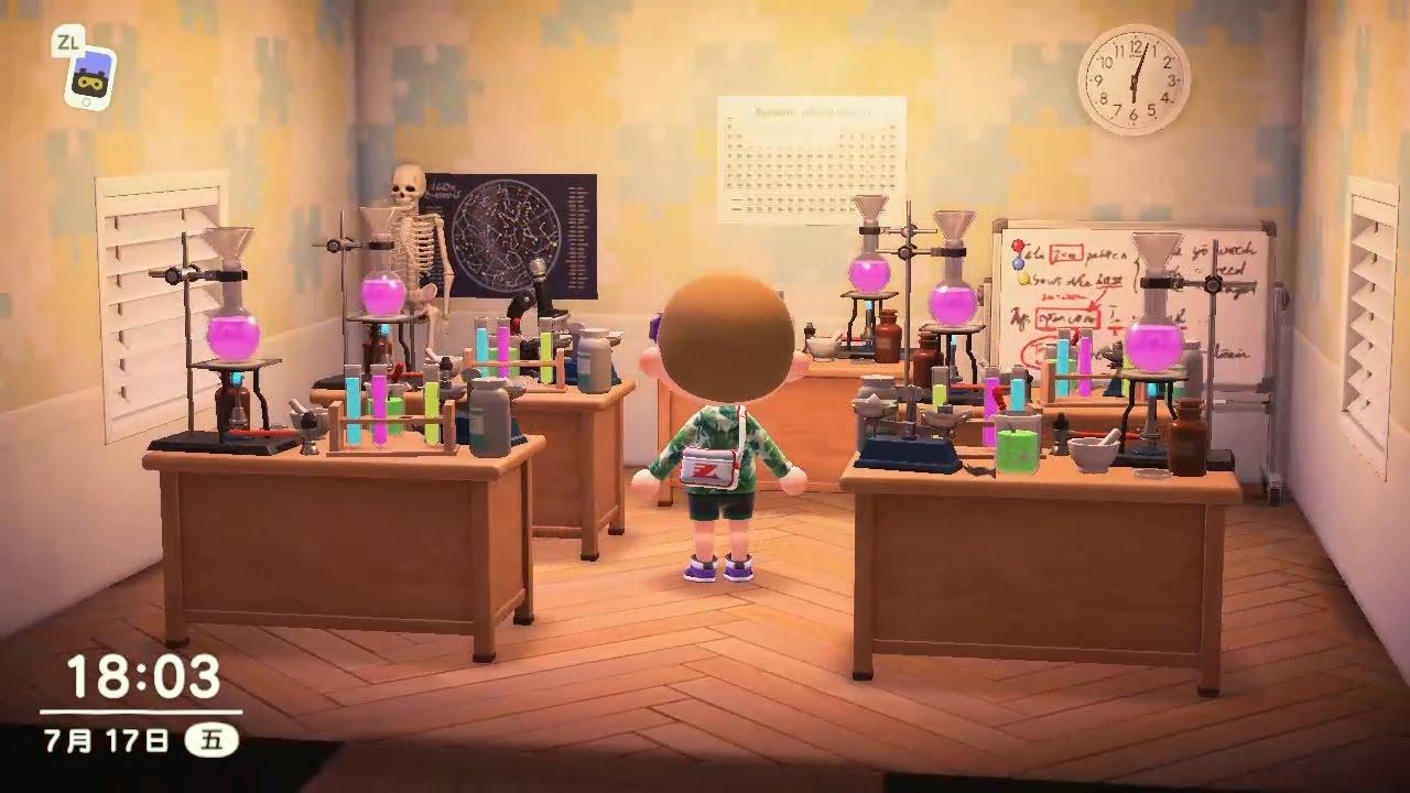 Animal Crossing New Horizons Science Lab Design Acnh House Interior Design Ideas