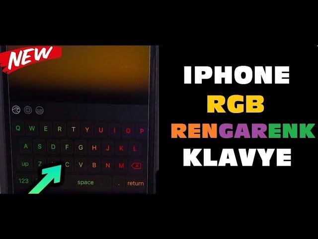 iPhone için RGB Rengarenk Klavye iOS 12 uyumlu Chroma Keyboard