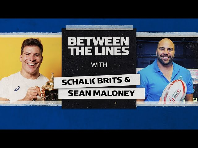 Schalk Brits | 🏆 Winning RWC 2019 & Brad Pitt Fandom 🤩 | Between The Lines