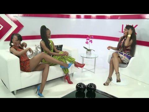 South African beauty sisters, Hlelo & Ntando Masina with glamorous nails into a seductive mini dress