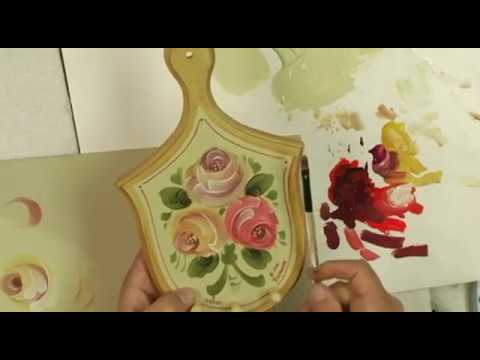 How to paint a simple stroke rose paint it simply youtube for Easy way to paint a rose